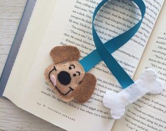 Dog felt bookmark | Handmade bookmark | Made in Quebec