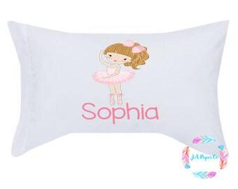 Ballerina Pillow, Kids Pillow, Pillow With Name, Personalized Pillow, Kids Pillow Case, Ballerina Pillow Case, Ballerina Bedding, Girls Bed