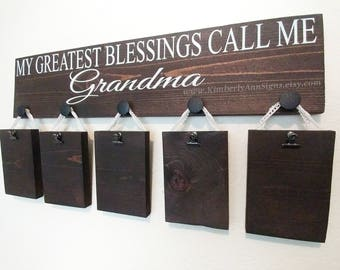 My greatest blessings call me, Grandparents sign, Greatest Blessings, Personalized sign, Grandparent gift, Custom wood sign, Grandma sign,