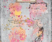 Digital Scrapbook, Graphics, Artsy Stamps, Glittery Scatters: Forever And A Day
