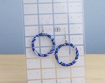 African earrings for women, ankara hoop earrings, afro earrings, african textile earrings, boucles d'oreilles ethniques, bijoux wax