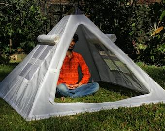 Giza Aluminium Meditation Pyramid 6 feet lite wight with tent