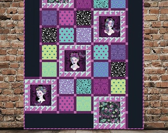 PRE-ORDER MAGICAL Quilt Kit Tula Pink's De La Luna collection fabrics Pattern by Carl Hentsch