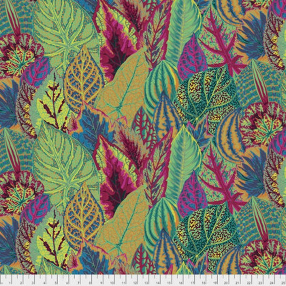 COLEUS MOSS Green PWPJ030 Philip Jacobs Kaffe Fassett Collectives Sold in 1/2 yd increments