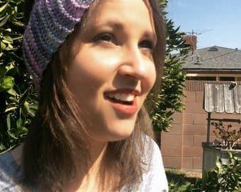 Hand knit headband/earwarmer