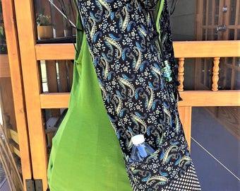 Turquoise and Greens Paisley Yoga Bag