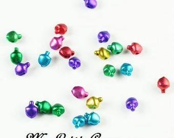 Set of 10 multi color bells