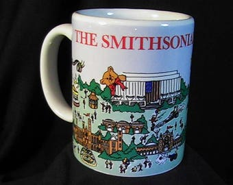 Vintage 1990 Smithsonian Institution Mug, The Smithsonian Experience, Made in USA