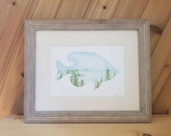 Sunfish Landscape - Original Watercolor Painting