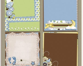 ON SALE NOW 65% off Baby Love Boy Digital Scrapbook Layered Papers
