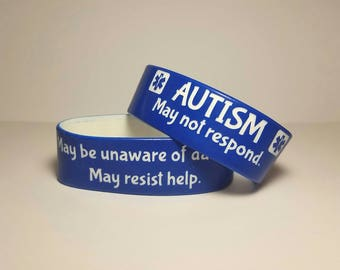 Autism Medical Alert Wristband Safety Bracelet