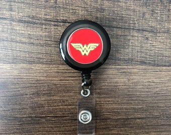Wonderwoman Retractable Badge Holder