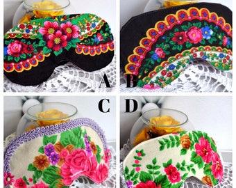 Floral Sleep Mask, Sleeping mask, sleep eye mask, travel mask, Rose Print Mask, black white