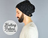 PATTERN // The Seattle Hat // Chunky Knit Beanie Pattern // Men's Hat Pattern