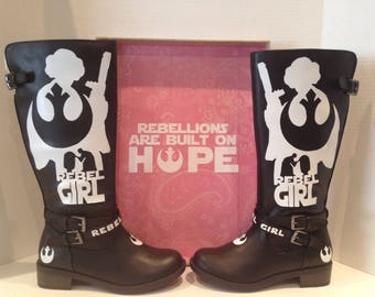 Rebel Girl Custom Kid boots