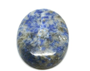 Cabochon gemstone 30 x 40 sodalite blue and white