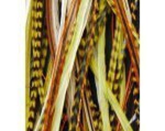"""4""""-7""""Natural Remix Color 5 Feathers"""