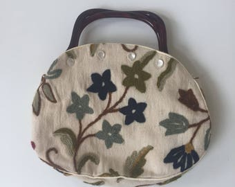 Vintage de'Lanthe Handbag 1970s Button Cover