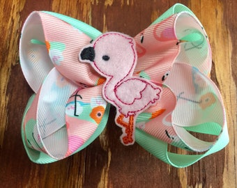 Blush Flamingo bow