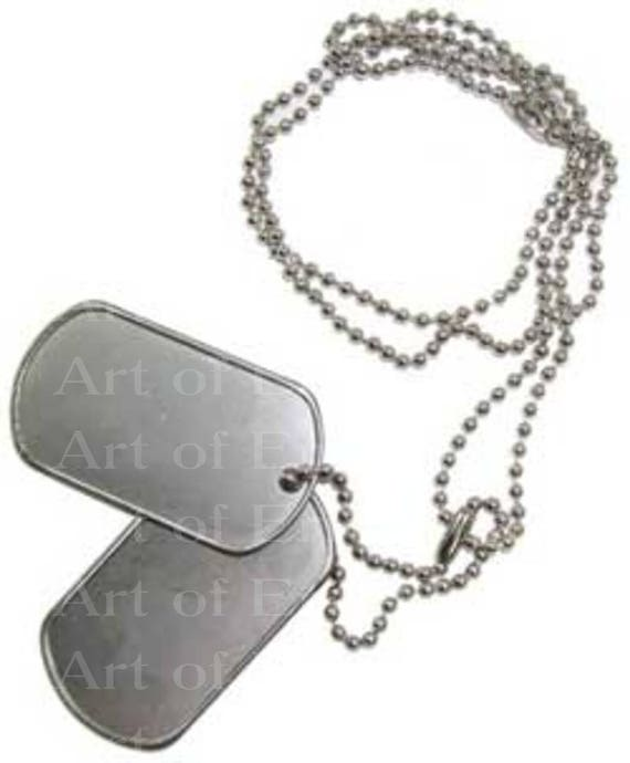 Military Dog Tags Birthday - Edible Cake and Cupcake Topper For Birthday's and Parties! - D22499