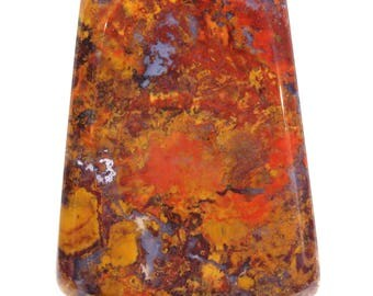 Gorgeous Rare Polished Wingate Pass Death Valley Plume Agate Cabochon