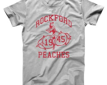 Rockford Peaches Baseball Peaches Softball Basic Men's T-Shirt DT0183