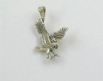 Sterling Silver 26mm Flying Eagle Charm