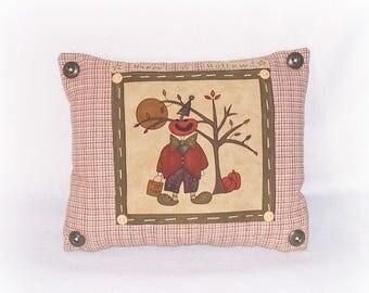 Happy Hollow Pillow Trick Or Treat Fall Pumpkin Pillow Halloween Autumn Home Decor Handmade Cute Pumpkin Moon Tree Fabric Panel Pillow