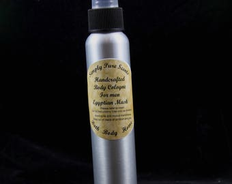 Egyptian Musk Cologne, After Shave, Men's Body Spray, Men's Body Spritzer, Men's Skin Care, Essential Oil, Men's Fragrance, Body Splash