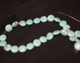 String of 1/2 inch Round Turquoise Beads