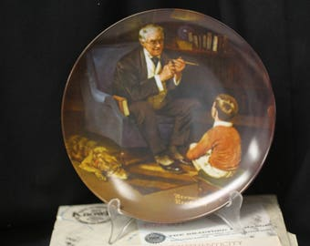 "Norman Rockwell ""The Tycoon"" Collector Plate - Sixth in the Rockwell Heritage Collection"