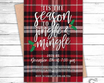 Jingle & Mingle Holiday Party Invitation