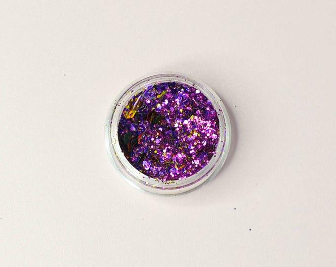 Joker, Purple and Gold Body Glitter