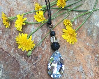 beaded rear view mirror car charm crystal sun catcher SUV charm sparkly lava stone beads & quartz car accessories mens / women's car decor
