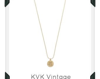 """14 Karat Gold Plated """"Love You To The Moon And Back"""" Necklace"""