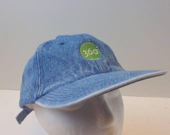 90s Low profile 360 denim hat cap