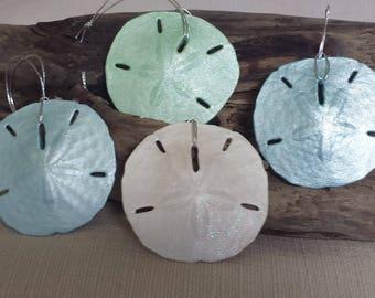 Beach Decor Sand dollar Ornament Shell Christmas Ornament