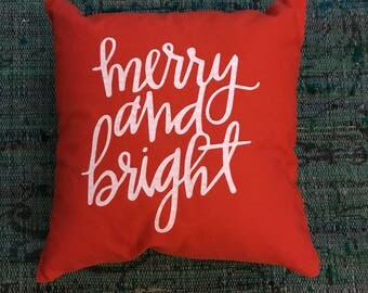 Pillow sham- merry and bright - 16x16