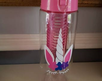 Unicorn personalised water bottle - school water bottle - personalised unicorn- school supplies