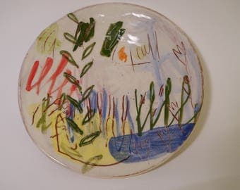 Landscape with Yellow Comb Plate