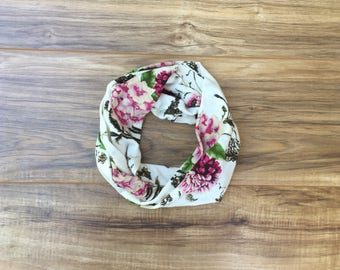 Baby Toddler Child Infinity Scarf -  Beautiful Floral Scarf - READY TO SHIP