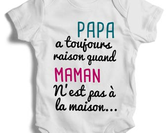 Personalized Bodysuit onesie Daddy did when MOM...