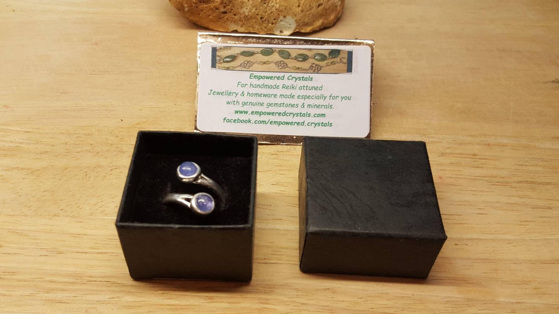 2 stone tanzanite ring 925 sterling silver reiki jewelry uk 2 stone tanzanite ring 925 sterling silver reiki jewelry uk violet flame adjustable buycottarizona Gallery