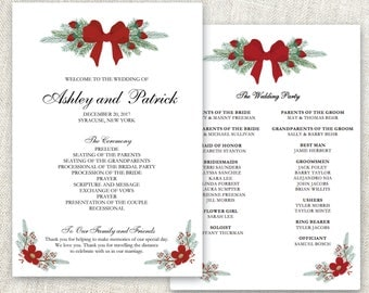 Christmas program etsy wedding program template editable program christmas wedding program editable text ms word printable pronofoot35fo Gallery