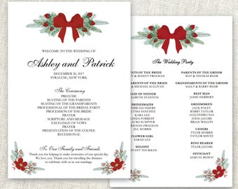 Christmas program etsy wedding program template editable program christmas wedding program editable text ms word printable pronofoot35fo Images