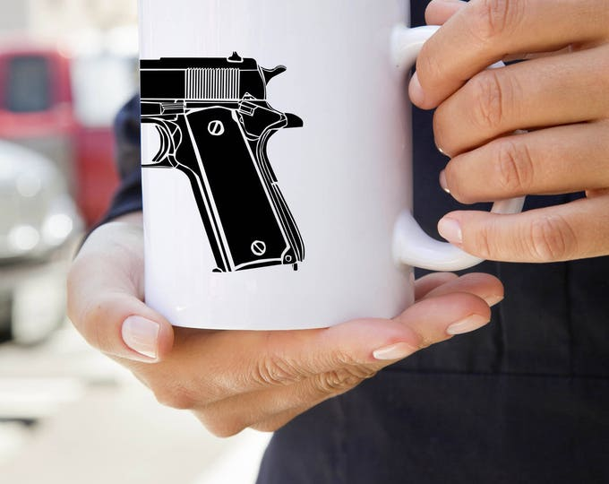 KillerBeeMoto:  U.S. Made M1911 Semi-Automatic Pistol Coffee Mug