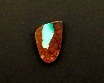 Royston High Grade Ribbon Turquoise Hand Cut Freeform Desinger Cabochon