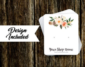 Jewelry Display Cards | Earring Cards | Necklace Cards | Forest Green & Floral