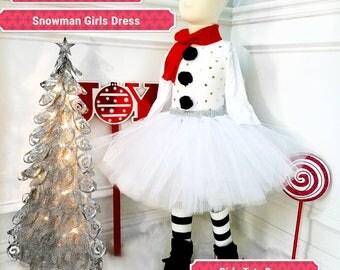 snowman outfit/snowman costume/girl snowman/ Christmas tutu/ Christmas snowman /birthday snowman/ Christmas tutu snowman/ winter costume/