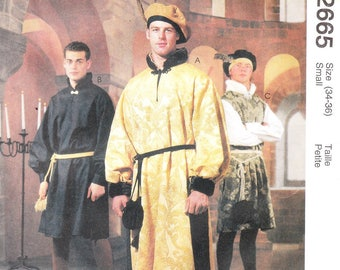 McCall's 2665 Men's Medieval Costumes Pattern